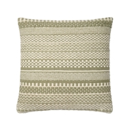 "Magnolia Home 22"" x 22"" Mikey Pillow Sage & Ivory - P1033 by Joanna Gaines"