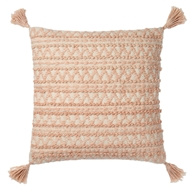 "Magnolia Home 22"" x 22"" Tristin Pillow Blush & Ivory - P1035 by Joanna Gaines"