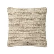 "Magnolia Home 22"" x 22"" Amelia Pillow Beige - P1041 by Joanna Gaines"