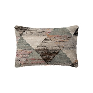 "Magnolia Home 13"" x 21"" Trinity Pillow Grey & Multi - P1043 by Joanna Gaines"