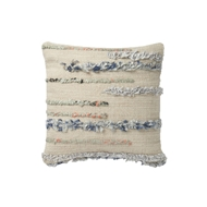 "Magnolia Home 18"" x 18"" Pillow Beige & Multi - P1045 by Joanna Gaines"