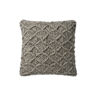 "Magnolia Home 18"" x 18"" Taylor Pillow Grey - P1046 by Joanna Gaines"