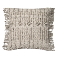 "Magnolia Home 22"" x 22"" Everett Pillow Grey - P1052 by Joanna Gaines"