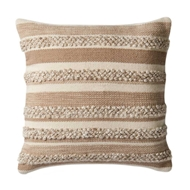 Magnolia Home by Joanna Gaines Beige & Ivory PillowP1022