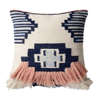 Magnolia Home by Joanna Gaines Navy & Pink PillowP1028