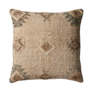 Magnolia Home by Joanna Gaines Beige & Silver PillowP1029