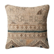 Magnolia Home by Joanna Gaines Beige & Blue PillowP1030
