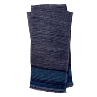 Magnolia Home by Joanna Gaines Alissa Navy & Teal Throw Blanket