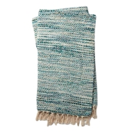 Magnolia Home by Joanna Gaines Bree Blue & Ivory Throw Blanket