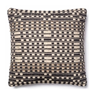 Magnolia Home by Joanna Gaines Black & Tan Pillow P1008 - Designer Pillow