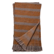 Magnolia Home by Joanna Gaines Duke Taupe & Orange Throw Blanket - Designer Pillow