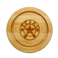 "Maple Leaf 10"" Round Cutting Board - 10RND"