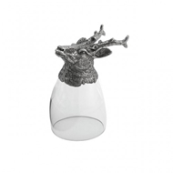 Arte Italica Animale Stag Liqueur Glass