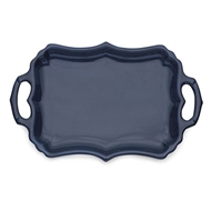 Arte Italica Burano Blue Tray with Handles