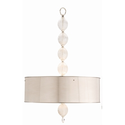 Arteriors Lighting Mckale Pendant With Polished Nickel Finish In Gray
