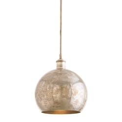 Arteriors Lighting Ormond Pendant With Vintage Silver In Gray