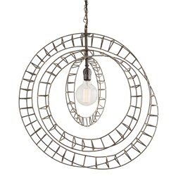 Arteriors Lighting Roxbury Pendant With Natural Iron Finish In Gray