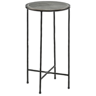 Currey & Company Home Brett Drinks Table 4000-0014 Cast Aluminum