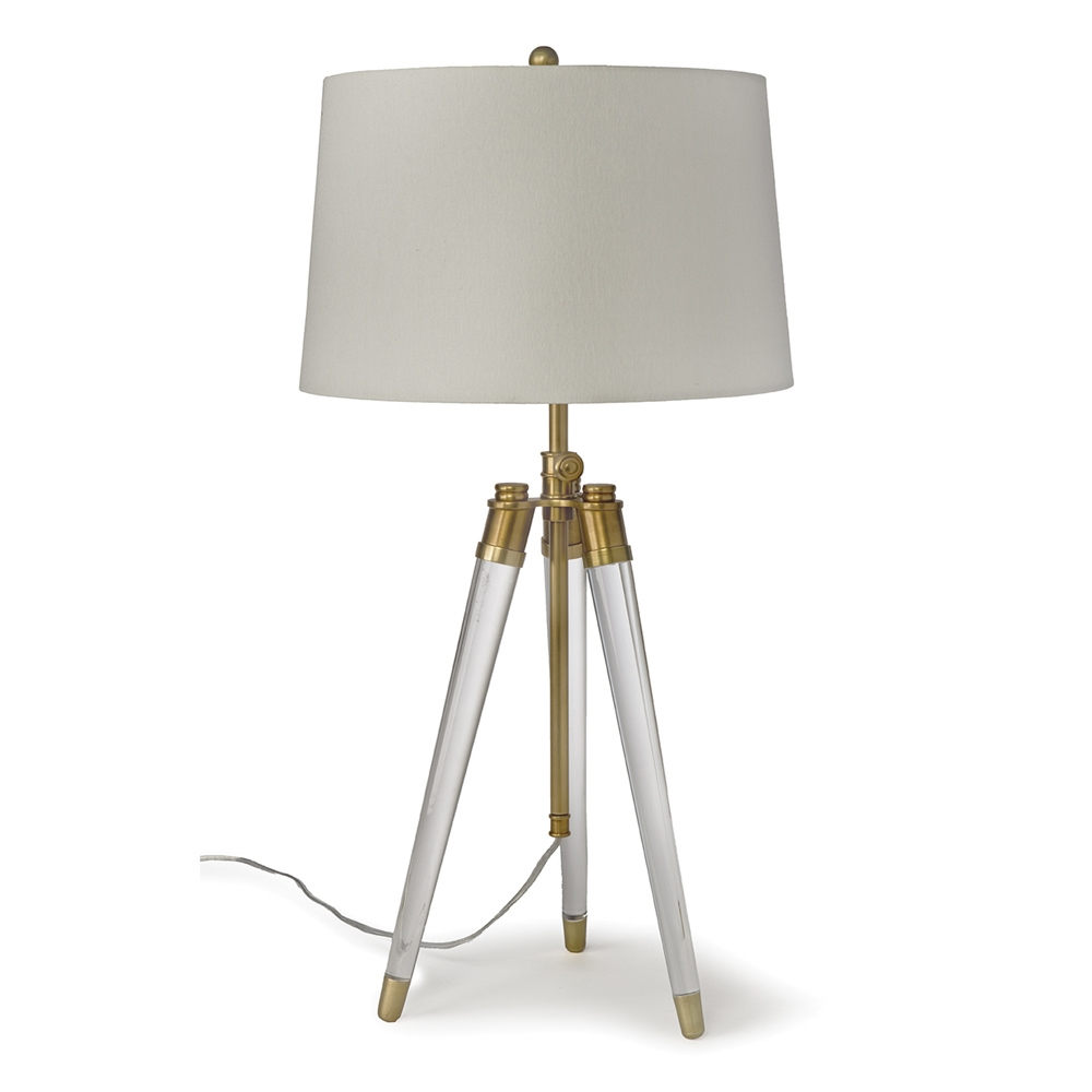 Regina andrew lighting - Regina Andrew Lighting Acrylic Tripod Table Lamp Brass