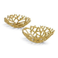 Regina Andrew Home Gilded Web Bowl Set Sold as a pair Master Pack 55-71-0175