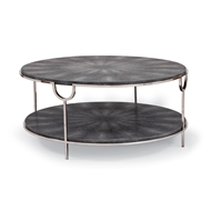 Regina Andrew Home Vogue Cocktail Table - Charcoal Shag w Polished Ni 57-63-0026
