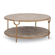 Regina Andrew Home Vogue Cocktail Table - Ivory Grey Shagreen w Brass 57-63-0032