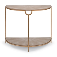 Regina Andrew Home Vogue Demilune Console - Ivory Grey Shag with Brass 57-63-0031