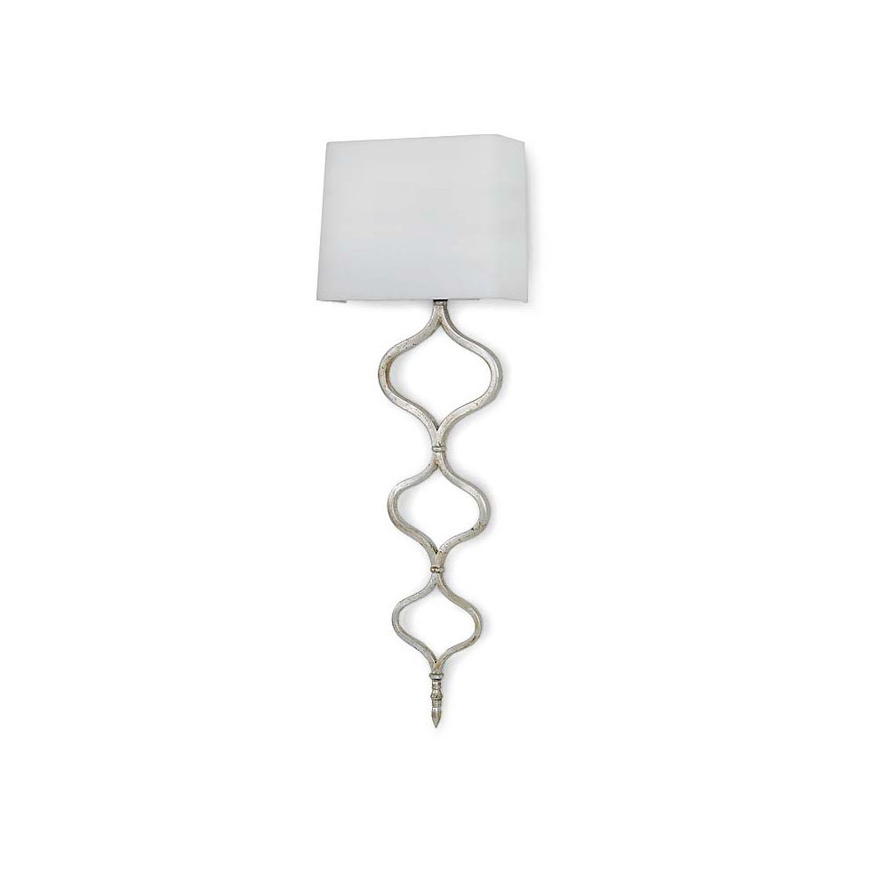 Regina andrew lighting - Regina Andrew Lighting Sinuous Metal Sconce In Silver Leaf