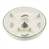 Spode Christmas Tree 5-Section Hors D%27Oeuvres Platter 1556249