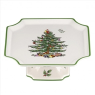 Spode Christmas Tree Footed Square Cake Plate 1556263