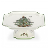 Spode Christmas Tree Footed Square Cake Plate 1556270
