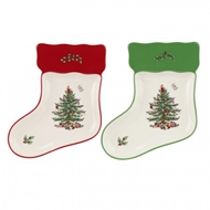 Spode Christmas Tree S/2 Stocking Dishes 1579279