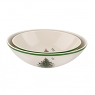 Spode Christmas Tree S/2 Oval Nesting Bowls 1623842