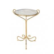 Aidan Gray Avista Occasional Table in Gold
