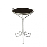 Aidan Gray Avista Occasional Table in Silver