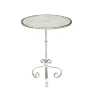 Aidan Gray Bolden Occasional Table in Silver
