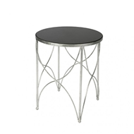 Aidan Gray Halmstad Side Table in Silver