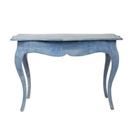Aidan Gray Levi Accent Table in Swedish Blue