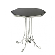 Aidan Gray Lund Side Table in Silver