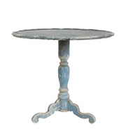 Aidan Gray Soren Table in Swedish Blue
