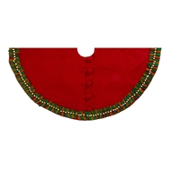 Arcadia Home Mistletoe Border Tree Skirt