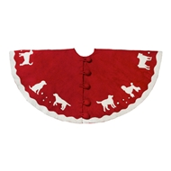 Arcadia Home Dog Breed Felt Wool Tree Skirt