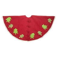 "Arcadia Home Red Felt ""Trees"" Tree Skirt"