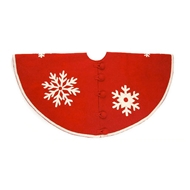 Arcadia Home Felt Snowflake Tree Skirt
