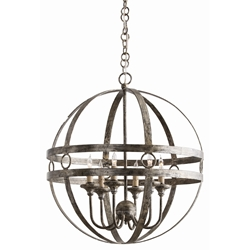 Arteriors Lighting Hollace Chandelier With Burnished Silver Finish In Gray