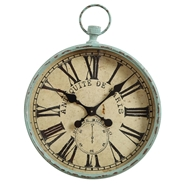 Creative Co-op - Aqua Pocket Watch Clock