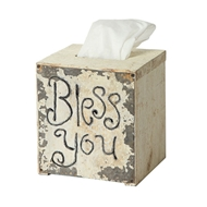 Creative Co-op - Bless You Tissue Box Cover