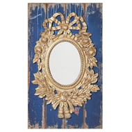 Creative Coop - Distressed Blue Wall Mirror - Unqiue Mirrors