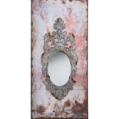 Rusted Pastel Framed Mirror Creative Co Op De3881