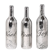 Creative Coop Holiday Mercury Glass Bottle Set